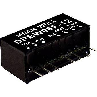 Mean Well DPBW06F-05 DC/DC converter (module) 600 mA 6 W Nr. uitgangen: 2 x