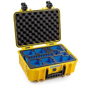 B&W GoPro Case Typ 4000 für GoPro Hero 8, Gelb Mit Schaumstoffeinsatz
