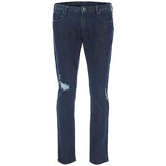 Mænd's Armani J06 Slim Fit Jeans i blå