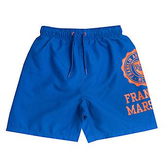 Boy's Franklin And Marshall Infant Core Logo Swim Short in Blue