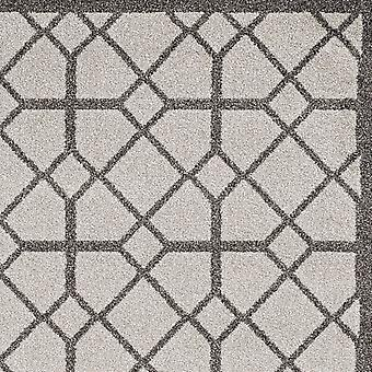 5' x 8' Ivoor of grijs geometrisch tegels gebied tapijt
