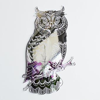 Owl on a Branch Engraved Acrylic Mirror