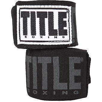 """Titel boksen Power-Flex Elite 180"""" vuist Wraps - zwart"""