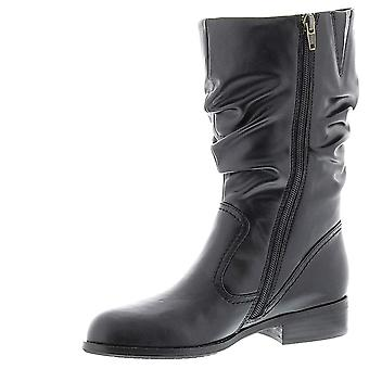 ARRAY Womens JENNIFER BLK SYN BOOT Almond Toe Mid-Calf Fashion Boots