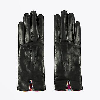 Paul Smith  - Leather Gloves With 'Swirl