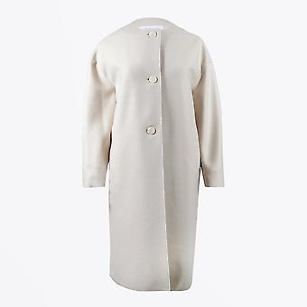 Harris Wharf - Manteau de printemps surdimensionné - Crème