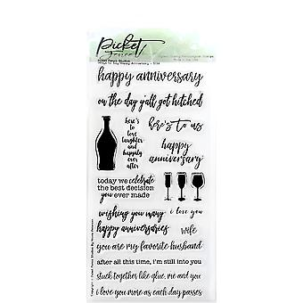Picket Fence Studios Ways To Say Happy Annivesary Clear Stamps