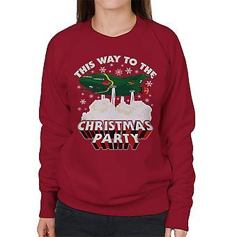 Thunderbirds 2 dieser Weg zur Weihnachtsfeier Frauen's Sweatshirt