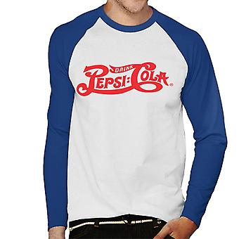 Pepsi Cola 1906 drankje logo mannen honkbal lange mouwen T-shirt