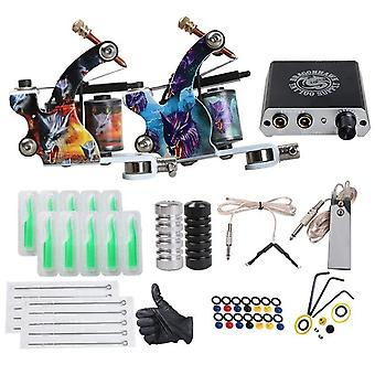 Complete Beginner - Tattoo Kit Mini Tattoo  Power Supply Cheap  Tattoo Kit Set Grips Needles Tips Supplies