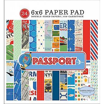 كارتا بيلا جواز السفر 6x6 بوصة ورقة وسادة