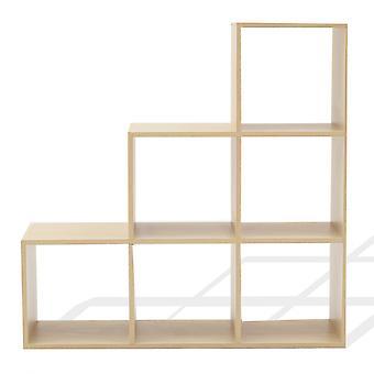 Rebecca Mobili Libreria Scaffale A Scala Moderno 6 Scomparti 97,5x97,5x29
