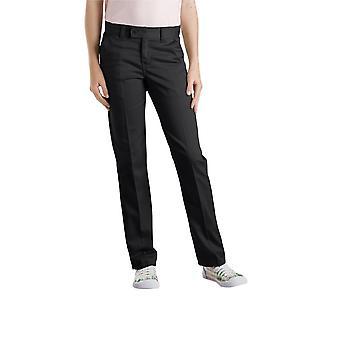 Dickies Juniors Slim Straight Stretch Pant, Black, 7
