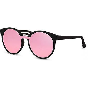 Sunglasses Unisex round black/pink (CWI2204)