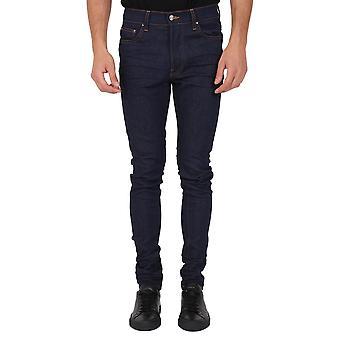 Amiri W0m01522sdrkb Men's Blue Cotton Jeans