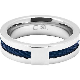 Rochet Ring HA237700 - Stål / Kabel CABESTAN Bicolore PVD Blå 0/6cm Män