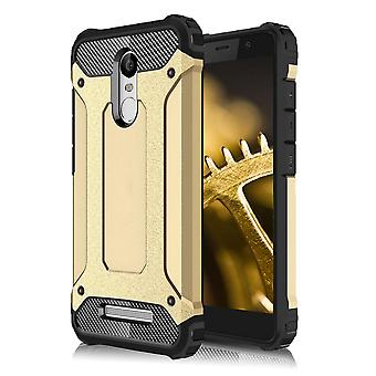 Shell for Xiaomi Redmi Note 3 Hard Armor Protection Gold TPU sag