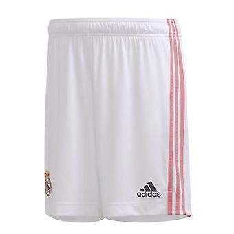 2020-2021 Real Madrid Adidas Home Shorts (Alb) - Copii