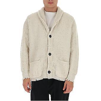 Laneus Cdu549cc21wht Men's White Cashmere Cardigan