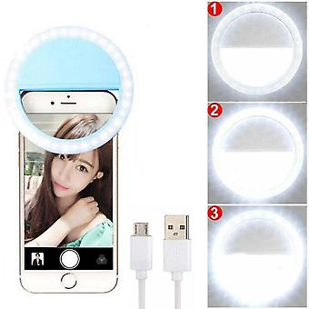 Usb Led Selfie Ring Portable Phone Photography Light Enhancing For Smartphone