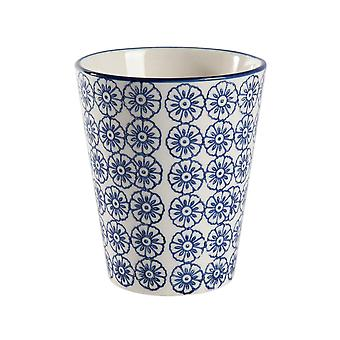 Nicola Primavera Mano Impreso Taza de Porcelana - Impresión de estilo japonés - 300ml - Azul