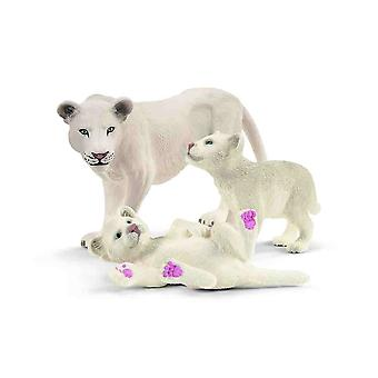 Schleich Lion mother with cubs animals set for children over 3 years old