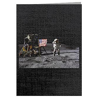 NASAジョンヤング月面着陸敬礼グリーティングカード