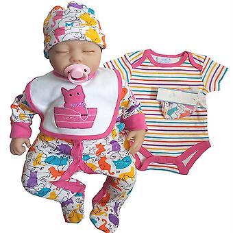 Bib Set Vaatteet Vastasyntynyt Romper Vauva painettu Puuvilla