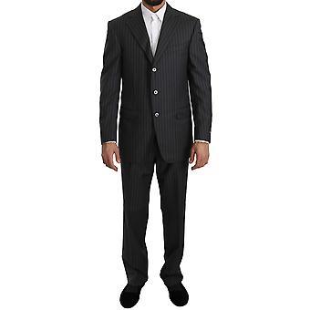 Ermenegildo Zegna Gray Two Piece 3 Button Wool Suit