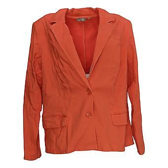 Motto Femmes-apos;s Costume Jacket/Blazer Orange Pockets Padded Shoulders 648-770