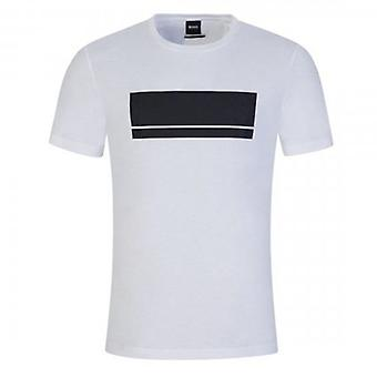 Boss Green Hugo Boss Teeonic Block Logo T-Shirt White 50435898