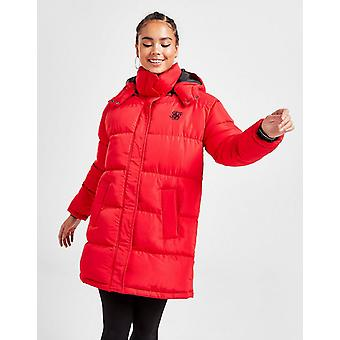 New SikSilk Women's Longline Padded Jacket from JD Outlet Red