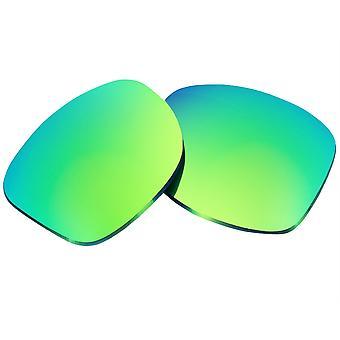 عدسات استبدال ل Oakley هولبروك النظارات الشمسية المضادة للخدش مرآة خضراء