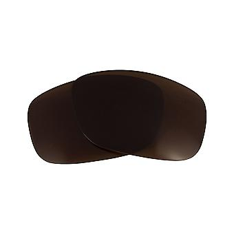 Non-Polarized Replacement Lenses for Oakley Ten X Sunglasses Anti-Scratch Brown