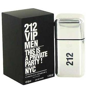 212 Vip By Carolina Herrera Gift Set -- 3.4 Oz Eau De Toilette Spray + .34 Oz Mini Edt Spray (men) V728-548517
