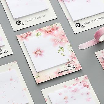 Beautiful Cherry Blossoms Sticky Notes, Sakura Memo Pads (random)