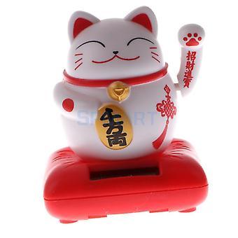 Copii Solar Powered, Waving Hands Cat Kitten, Animal Swinging, Toy Car, Home