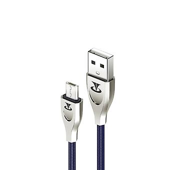 Teclast  1.0m  Micro to USB V0 Flame Retardant TPE Data Cable(Sapphire Blue)