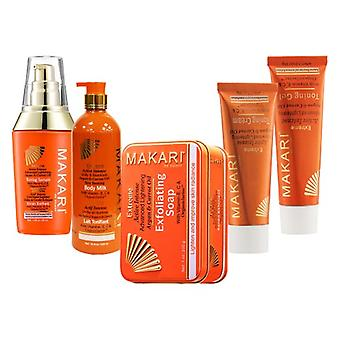 Makari Extreme Complete Range for Skin Lightening and Toning - Lotion, Cream, Serum, Gel and Soap