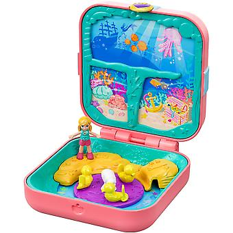 Polly pocket gdk77 hidden hideouts mermaid cove with 3 reveals, 3 accessories, 1 micro polly doll &