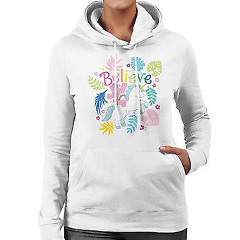Pflege Bären Cheer Bär Einhorn glauben Frauen's Kapuzen Sweatshirt