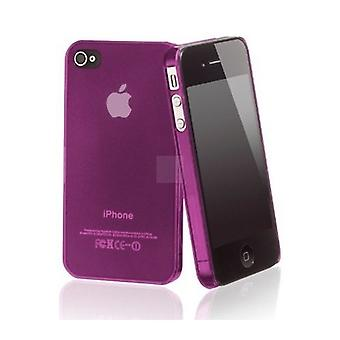 Iphone 4 og 4s Hard Plastic Cover Bagtaske - Pink