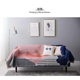 Heitä peitto sohva Cobertor kansi ripustus kuvakudos vuodesohva