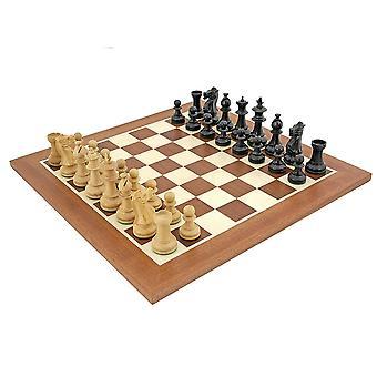 مجموعة الشطرنج الماهوغاني زهرة الملكي
