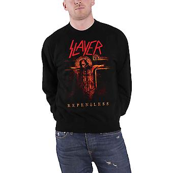 Slayer Mens Sweatshirt Black Repentless Crucifix band  Official