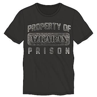 Harry potter property of azkaban prison men's black t-shirt tee shirt