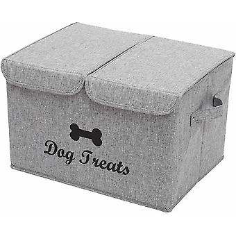 Pethiy Large Storage Boxes - Large Linen Fabric Foldable Storage Cubes Bin Box Containers with Lid