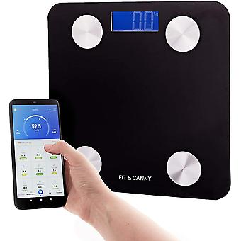 FIT&CANNY Smart Body Scale Bluetooth, Body Composition Analytics Through Smartphone App