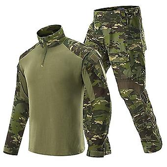 Man Military Tactical Uniforms Army Combat Suit Camouflage Long Sleeve T-shirts