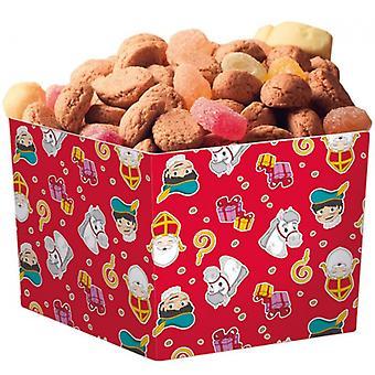 Snackbakjes Sinterklaas 400 Ml Karton Rood 6 Stuks